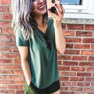 Forever 21 Green Loose Blouse Small